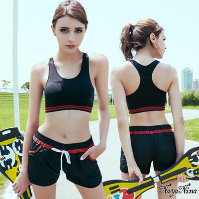運動內衣 工字背無鋼圈內衣S-XL(黑) Naya Nina