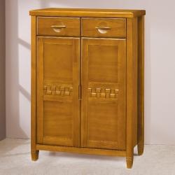 愛比家具 森杰2.8尺柚木色鞋櫃