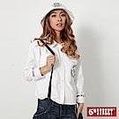 5th STREET 繡字襯衫式外套-女-白色