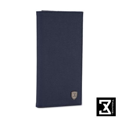74盎司 防潑水對折長夾[N-485]藍色
