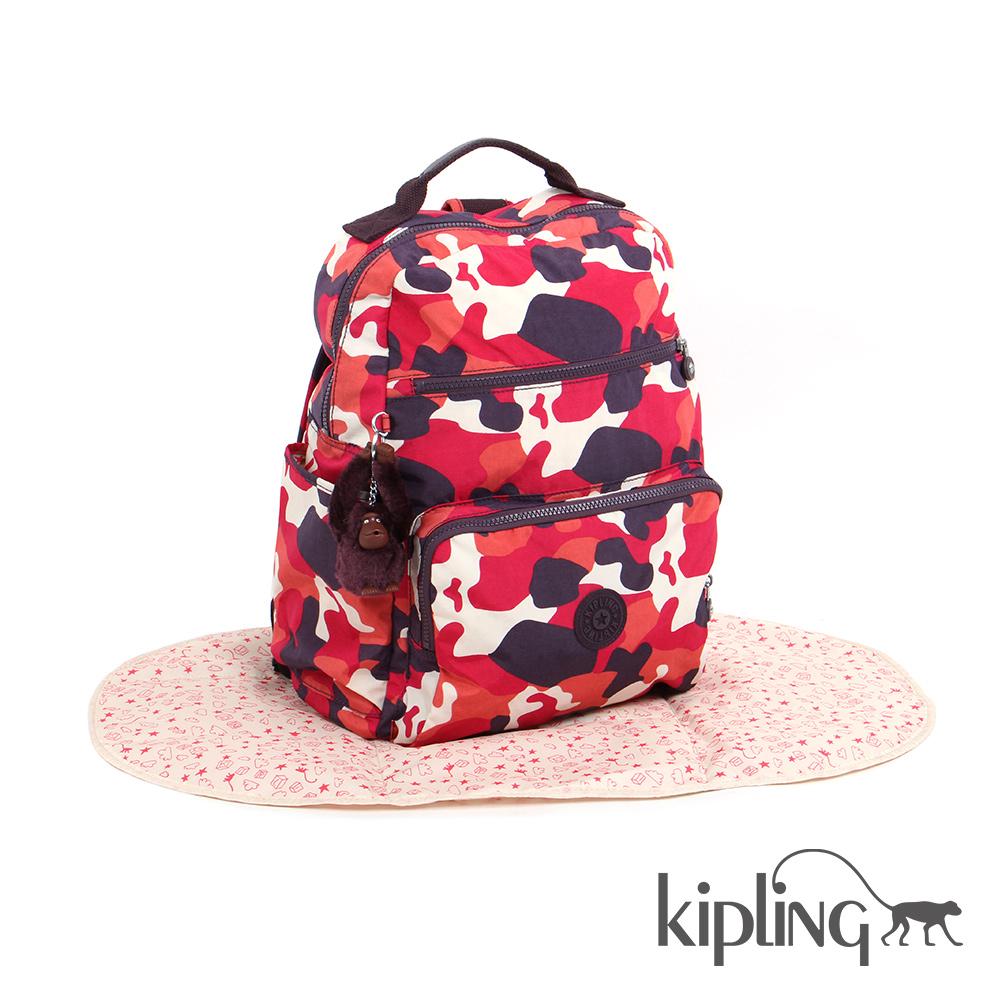 Kipling 媽咪包 迷彩紅印花