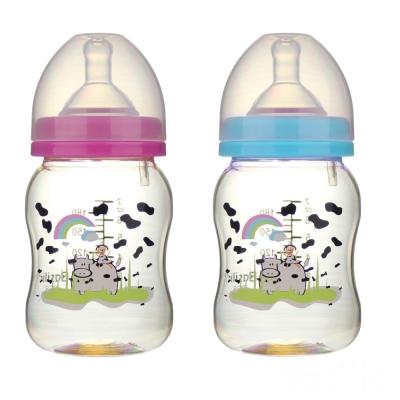 【貝喜力克】防脹氣寬口徑PES乳牛奶瓶180ml*2