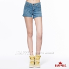 BRAPPERS 女款 Boy Friend Jeans系列-女用彈性短褲-淺藍