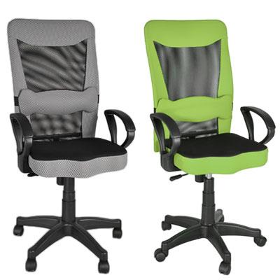 【凱堡】Luffy透氣高背辦公椅/電腦椅-4色(附雙魚造型護腰枕)