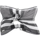 BURBERRY 輕盈格紋絲綢圍巾(黑灰色/100%SILK)