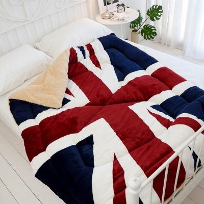 絲薇諾 英國旗 羊羔法蘭絨被/單人-149×195cm