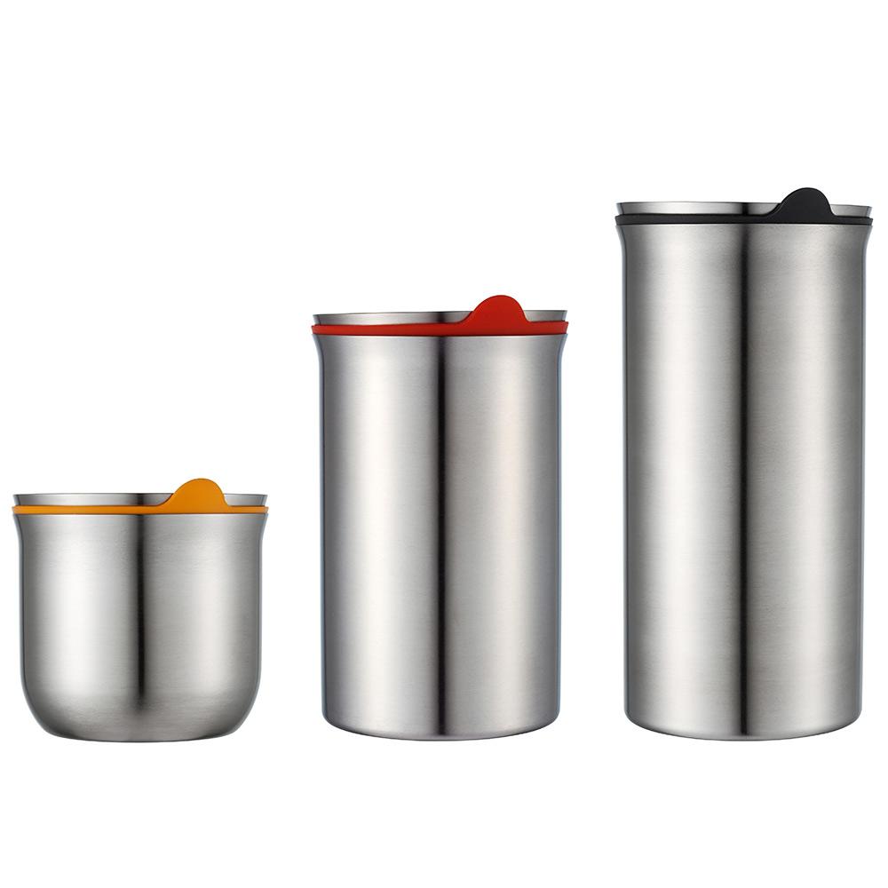 JVR 韓國原裝不銹鋼保鮮罐3入組 (黃/紅/深藍)
