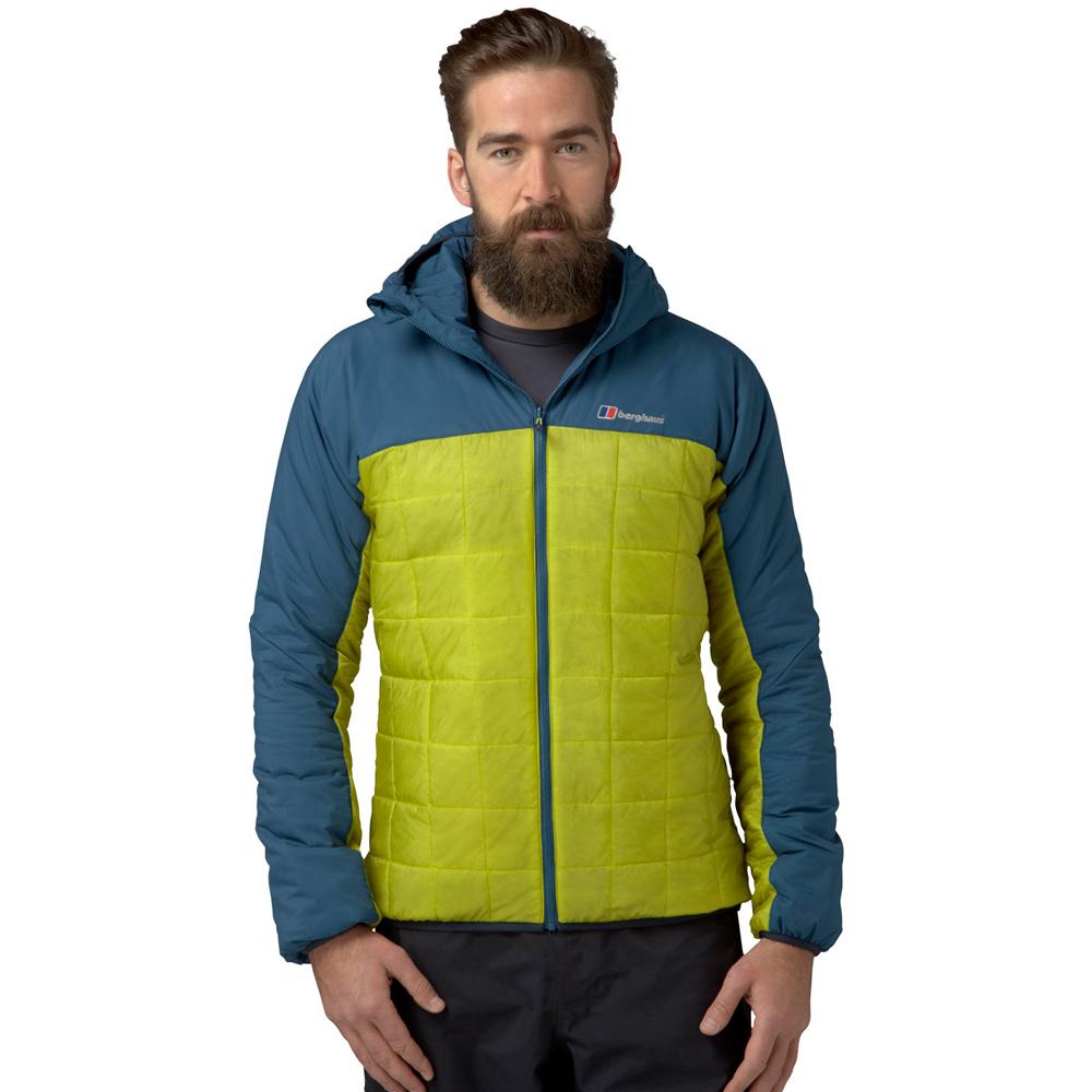 【Berghaus 貝豪斯】男款溫度調節高科技棉雙面穿外套H22MU7綠/藍