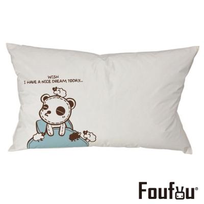 Foufou 抱枕套-熊貓眼 白色(單人枕套)