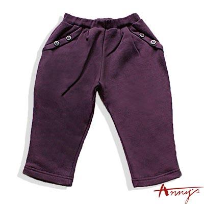 Anny素面造型釦飛鼠褲*1428紫