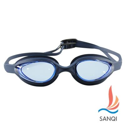SANQI三奇 夏日必備抗UV防霧休閒泳鏡(102-藍F)