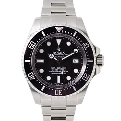 ROLEX 勞力士 Deepsea 116660 海使陶瓷框專業潛水錶-黑水鬼/44mm