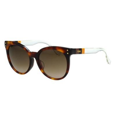 FENDI 時尚造型太陽眼鏡 (琥珀色)FF0083FS