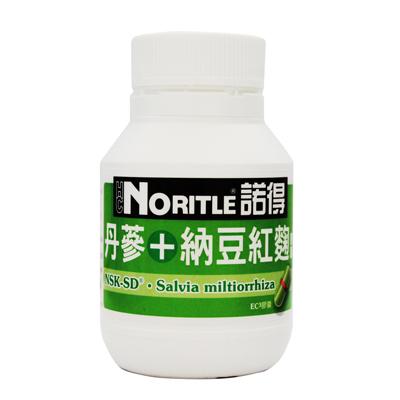 諾得 丹蔘+納豆紅麴膠囊 60粒/1瓶