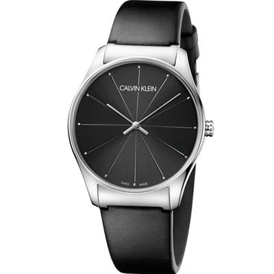 Calvin Klein Classic 經典設計款時尚錶(K4D211CY)黑/38mm