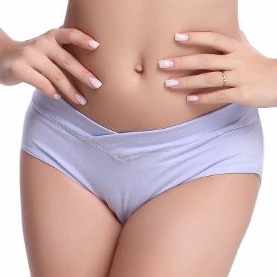 Keep Chic孕婦裝-紫色交叉低腰竹纖維內褲