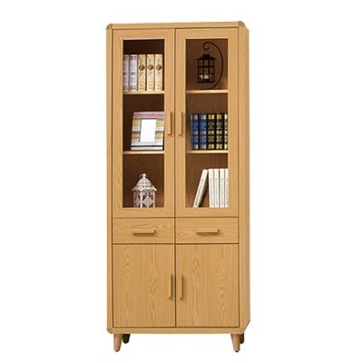 ROSA羅莎 溫斯敦原木色2.7尺中抽書櫃
