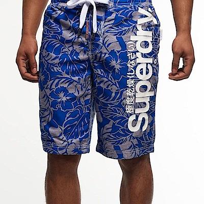 SUPERDRY 極度乾燥 男 短褲 藍色 0727
