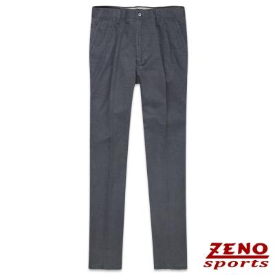 ZENO 經典格紋打摺休閒長褲‧深灰30~40