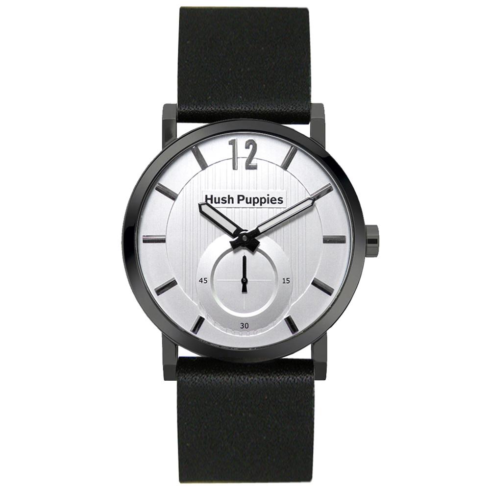 Hush Puppies 新經典品味設計腕錶-銀色/40mm
