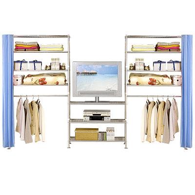 巴塞隆納-W4型90+90+90公分衣櫥置物架