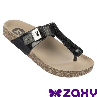 Zaxy 巴西-女  FASHIONFLAT THONG FEM 夾腳拖鞋 (黑)