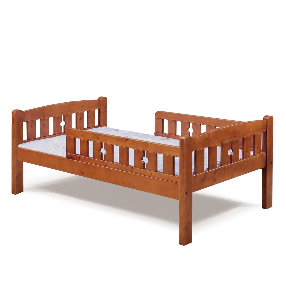 品家居 法歐納3.5尺實木單人床台(不含床墊)-113.5x197x75cm免組