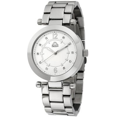 Kappa 十全十美不鏽鋼時尚腕錶-銀/38mm