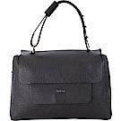FURLA Capriccio M 荔紋皮革手提包(黑色)