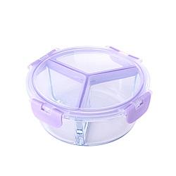 美國Winox 專利4D全隔玻璃保鮮盒圓形3格950