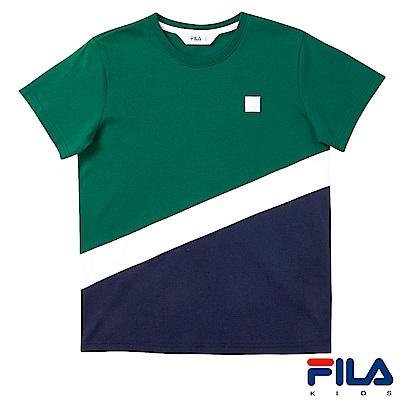 FILA KIDS #東京企劃 剪接圓領T恤-綠1TES-4454-GN