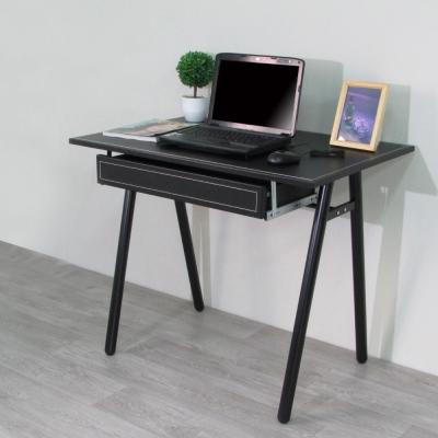 Amos-環保粗管90公分仿馬鞍A型桌面附抽屜書桌-寬90x深60x高75cm