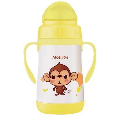 MoliFun魔力坊 不鏽鋼真空兒童吸管杯/學習杯260ml(3色)
