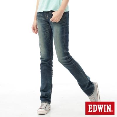 EDWIN 窄直筒 MISS EG503顯瘦牛仔褲-女-石洗綠