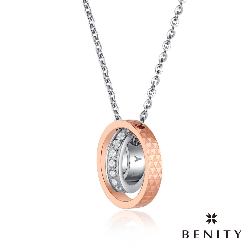 BENITY 魔幻時刻 316L白鋼/西德鋼 IP玫瑰金  情侶款女項鍊