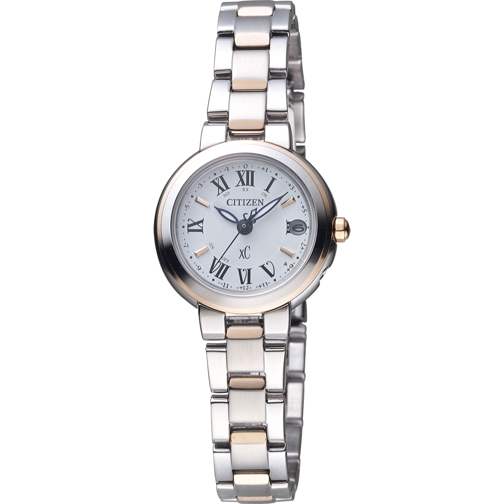 CITIZEN xC 光動能全球電波時計錶(ES9004-52A)-雙色/25mm @ Y!購物