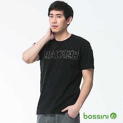 bossini男裝-速乾短袖圓領上衣02黑