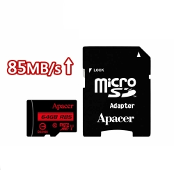 Apacer宇瞻 64GB MicroSDXC UHS-I 記憶卡 85MB/s(附轉卡)