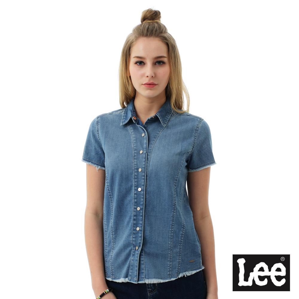 Lee 牛仔短袖襯袖BO-女款