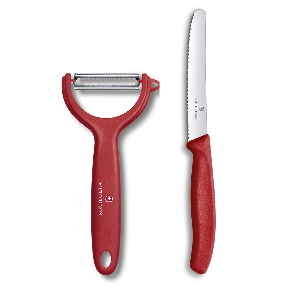 VICTORINOX瑞士維氏 蔬果刀 Y型削皮刀-紅