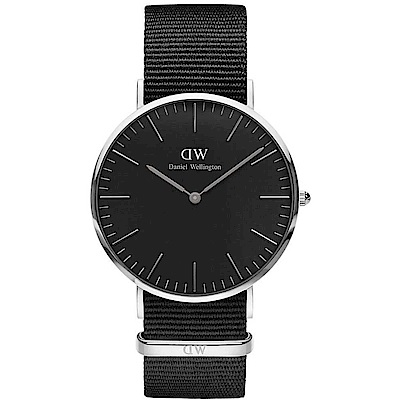 DW Daniel Wellington 經典黑-銀框/40mm(DW00100149)