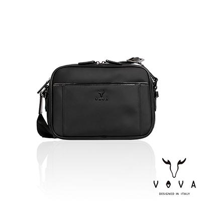 VOVA - 熱那亞系列橫式斜背包-小 - 經典黑