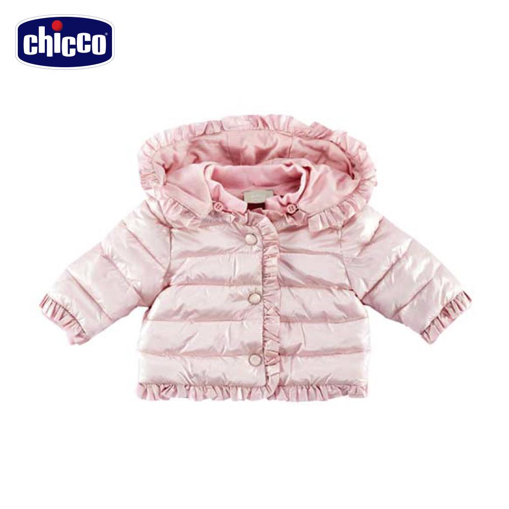 chicco可拆帽舖棉外套-粉(12個月-18個月)