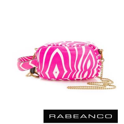 RABEANCO-絕美經典系列羊皮鏈帶手拎包-小-桃