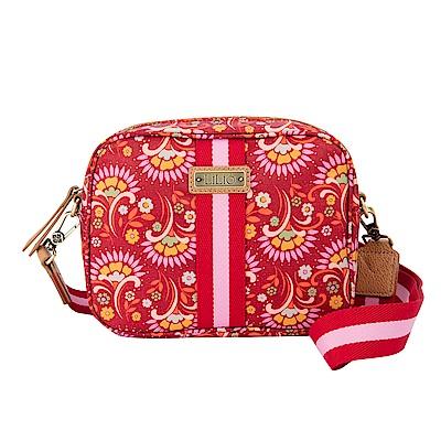 LiliO   側背包   鬱金香復古印花  S Shoulder Bag Carmine
