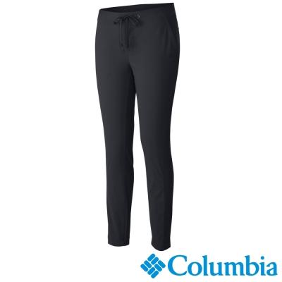 【Columbia哥倫比亞】女-防潑防曬50彈性長褲-黑色 UAL81010BK