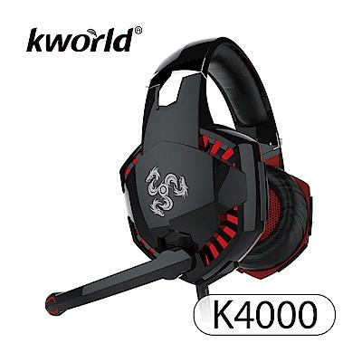Kworld 廣寰 玩家級電競耳麥 K4000-BR《黑紅》
