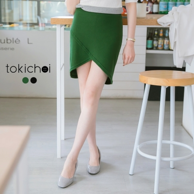 東京著衣 交叉小精靈針織短裙-S.M.L(共二色)