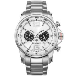 BENTLEY 賓利 Veneur系列 紳裝狩獵者計時手錶-白x銀/43mm