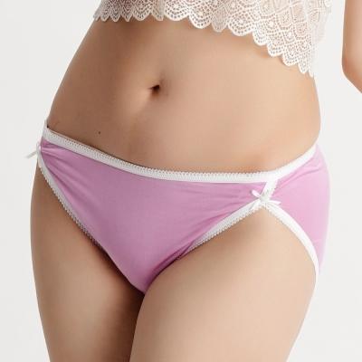內褲 親膚細緻100%蠶絲中低腰三角內褲 (紫) Chlansilk 闕蘭絹